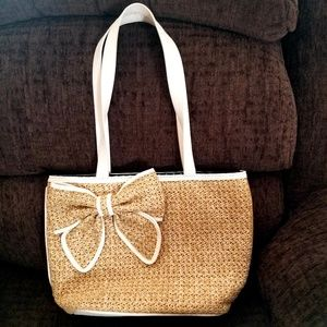 Bueno Collection Straw Shopper Tote